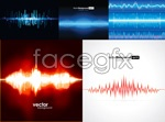 Link toFrequency fluctuation of light background vector