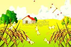 Link toFresh and beautiful outdoor scenery vector