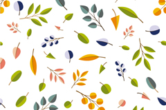 Link toFresh and colorful leaves seamless vector background