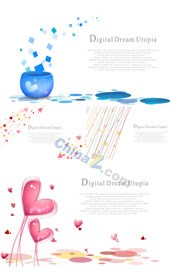 Link toFresh background design template vector