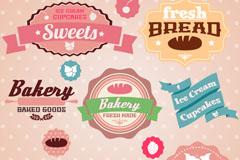 Link toFresh baked desserts tag vector