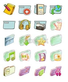 Link toFresh cartoon folder icons