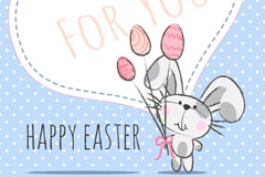 Link toFresh cartoon rabbit background vector