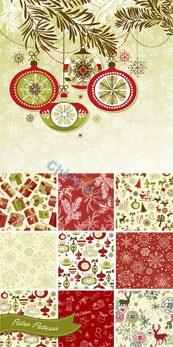 Link toFresh christmas flower background vector
