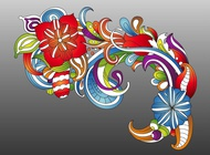 Link toFresh colorful flowers vector free