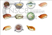 Fresh cooked food icons