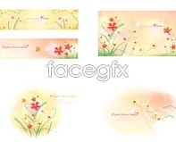 Link tovector format ai stationery border pattern background flowers Fresh