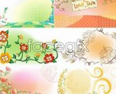 Link toFresh flowers hand-painted backgrounds vector patterns-3