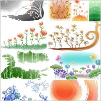 Link toFresh flowers handpainted background vector 1 case