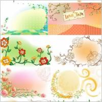 Link toFresh flowers handpainted background vector artwork 3