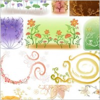 Link toFresh flowers handpainted background vector case 2