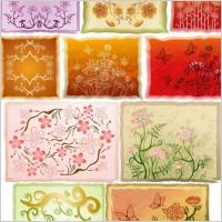 Link toFresh flowers handpainted background vector case 4