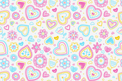 Link toFresh flowers painting love and seamless vector background