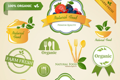 Link toFresh food label vector