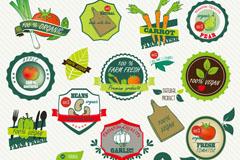 Link toFresh fruit and vegetable labels vector