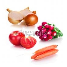 Link toFresh fruit and vegetables on a white background high definition pictures