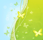 Link toFresh green butterfly background vector