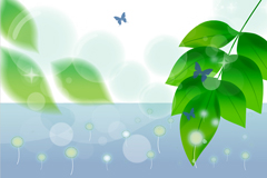 Fresh leaves background vector