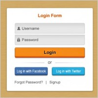 Link toFresh login box psd layered