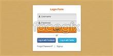 Link toFresh login box psd