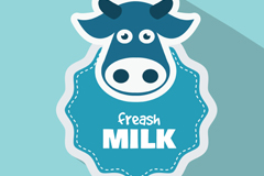 Link toFresh milk blue label vector