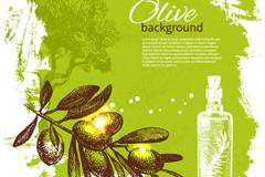 Link toFresh olive branch background vector