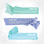Link toFresh origami banner vector