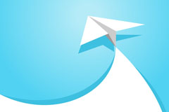 Link toFresh paper airplane background vector