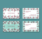 Link toFresh pattern business cards vectors