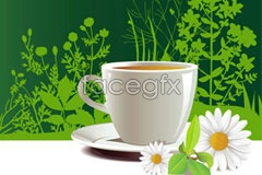 Link toFresh, perfect summer tea vector