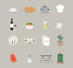 Fresh restaurant icon vector