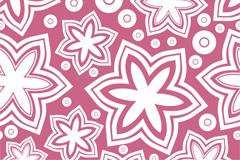 Link toFresh six-petal flowers vector