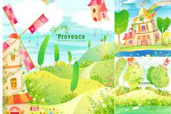 Link toFresh spring scenery vector illustration