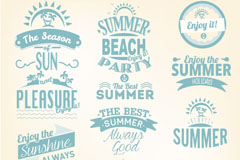 Link toFresh summer art tag vector