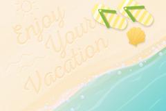 Link toFresh summer beach vector