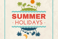 Fresh summer holiday poster vector