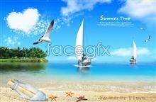 Link tofresh summer ocean views psd
