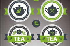 Link toFresh tea label vector