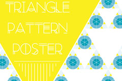 Link toFresh triangle pattern poster vector