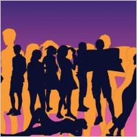 Link toFriends silhouettes vectors