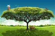 Link toFriendship tree landscape psd free