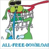 Link toFrog stuck in net