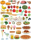 Fruit and vegetable food vector