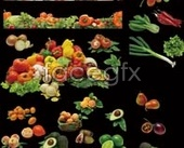 Fruit and vegetable free psd