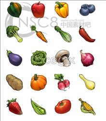 Fruit and vegetables, computer icons