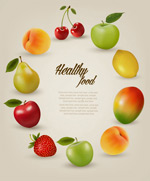 Link toFruit border background vector
