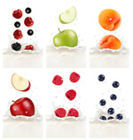 Fruit cream background vector