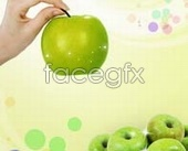 Link toFruit green apples psd