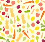 Link toFruits and vegetables seamless background vector