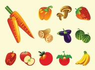 Link toFruits and vegetables vector free